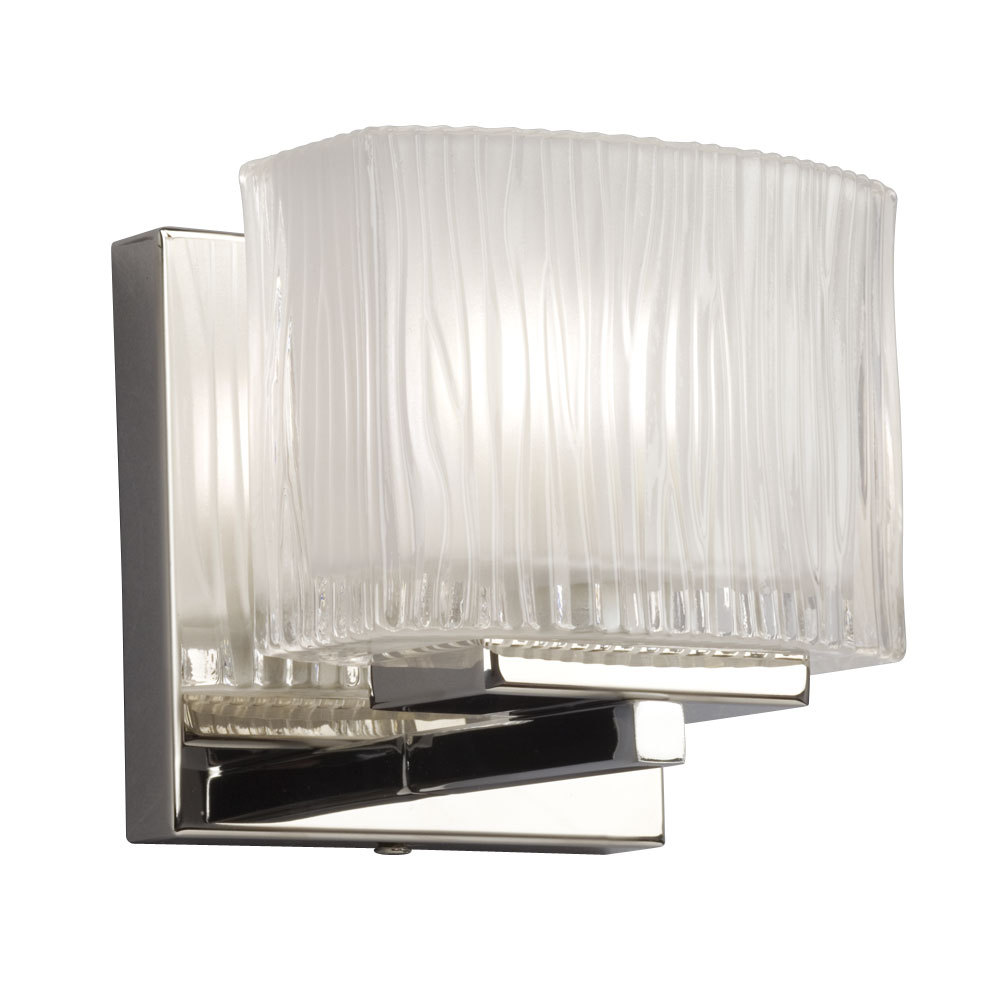 Vanity Light Fixture With Inside Frosted Glass Shade