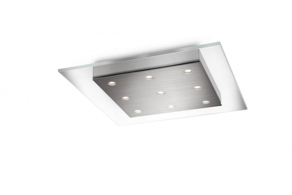 Reveal The Unconscious Elegance Of This Tasteful Ceiling Light. The Clear  Glass And Brushed Nickel